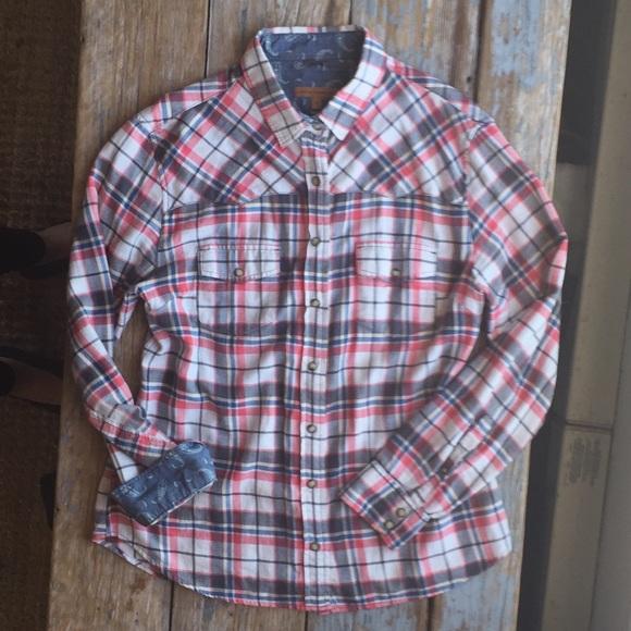 b36a748edc89a0 Jachs Tops   Ny Girlfriend Flannel Shirt   Poshmark